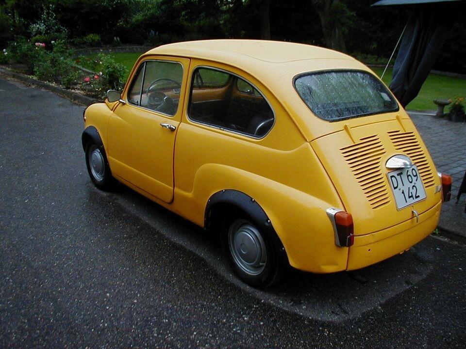 Fiat 600 0,6 Benzin modelår 1971 km 130000 gul