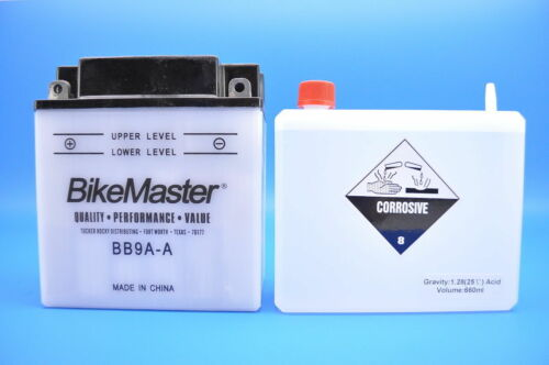 85-88 Honda TRX125 BikeMaster Yumicron Battery BB9A-A w//Acid Pack EDTM229AY