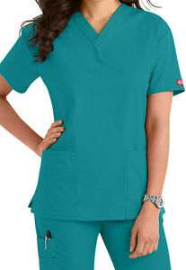 e431e7ebc6e Image is loading Dickies-Medical-Scrub-EDS-Signature-Teal-Two-Pocket-