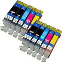 10 x CHIPPED Ink Cartridges For Canon MG6200, MG 6200