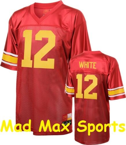 CHARLES WHITE Red NCAA Rivalry USC Trojans LEGENDS Tackle THROWBACK Jersey M-2XL