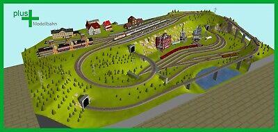 HO Set 3,15 x 2,45 m Piko H0 A-Gleis Gleisplan A64 für Anlagenplanung