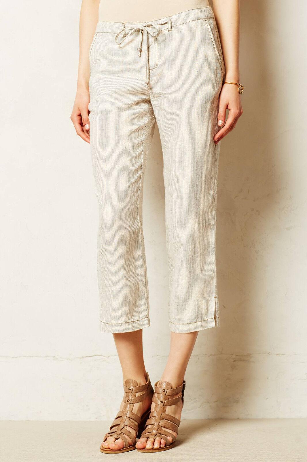 Marrakech Paden Linen Pants Size 27 Neutral Motif NW ANTHROPOLOGIE Tag