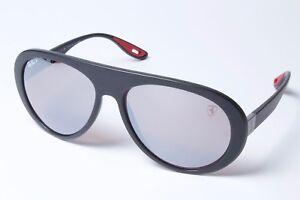 83ab4353b8 Ray-Ban Ferarri RB4310M F602 H2 Black Silv Mirr Chrom Sunglasses ...