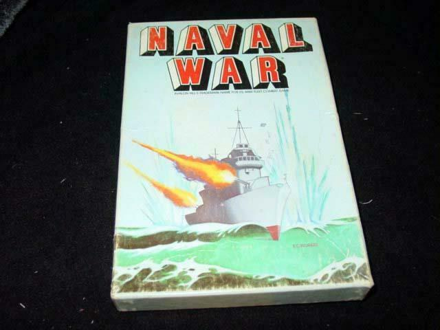 Avalon Hill 1983   NAVAL WAR - WWII Fleet Combat Game - Card Game Bizma vs Iowa