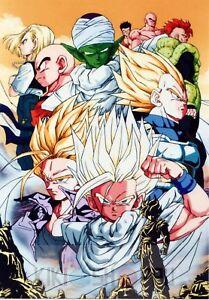 a4e543d43 Poster A3 Dragon Ball Z Goku Gohan Vegeta Trunks Sleeve Anime ...
