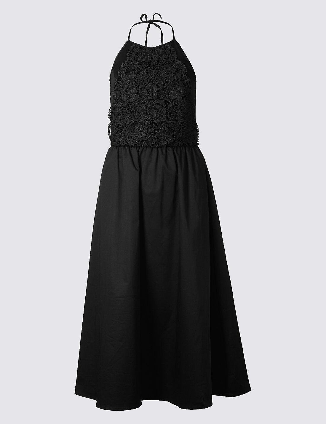 M&S COLLECTION Cotton Rich Embroiderot Skater Midi Dress PRP PRP PRP | Deutschland Frankfurt  | Niedrige Kosten  | Starke Hitze- und Abnutzungsbeständigkeit  99107d
