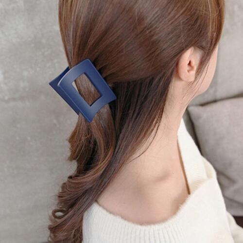 Korea Style Acrylic Hair Claw Hair Rectangle Clamp Solid Hair Clips LA