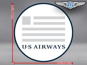 US AIRWAYS ROUND LOGO STICKER / DECAL