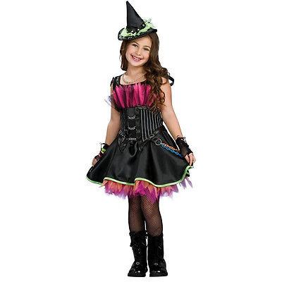 Goth Pink Black Monster High Themed Girls Witch Halloween Costume Medium  8/10