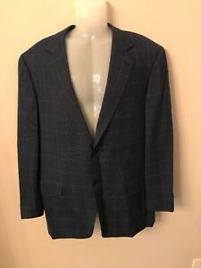 Ermenegildo Zegna Mens Suit Sport Jacket 100 Wool Blue