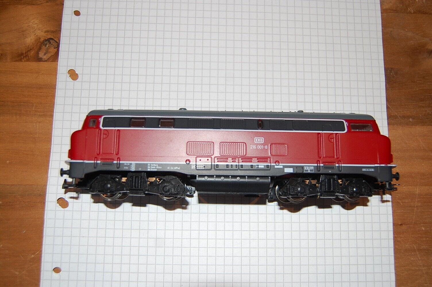 Mehano Modelbahn Spur HO Diesellokomotive DB BR 216 001-8
