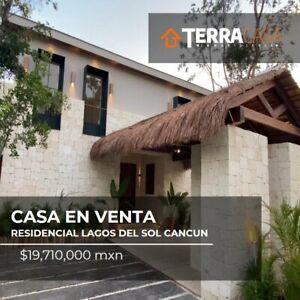 Casa en venta en Residencial Lagos del Sol Cancun