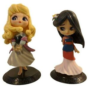 Disney-Princess-Q-Posket-Figures-Set-of-2-Sleeping-Beauty-Aurora-amp-Mulan-K