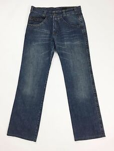 Calvin-Klein-jeans-W31-tg-45-uomo-gamba-dritta-boyfriend-comodo-blu-T1042