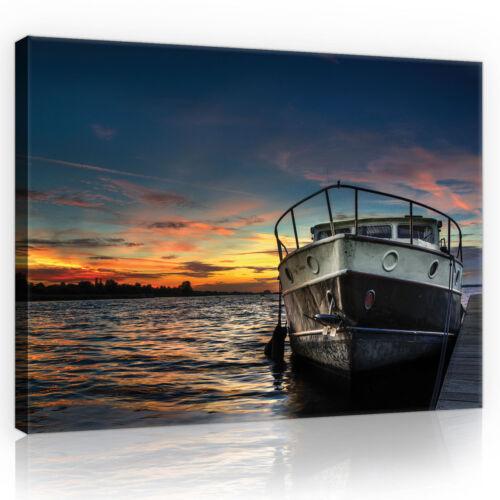 CANVAS Wandbild Leinwandbild Bild Natur Meer Wasser Sonne Schiff   3FX10520O1