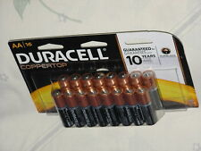 1 Package of 16 AA Alkaline Batteries Duracell AA16 Coppertop MN1500 DEC 2024