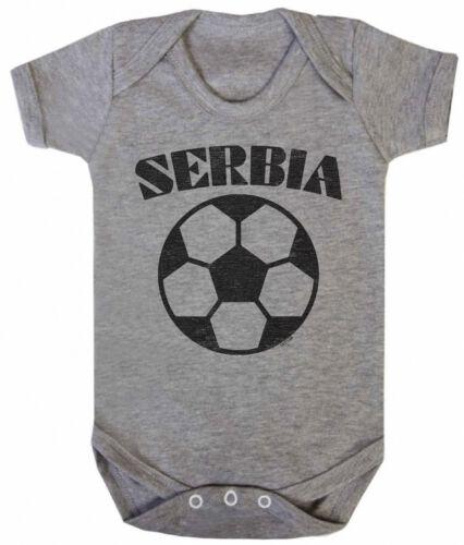 Serbia Chicos Chicas Unisex Babygrow Chaleco de la Copa Mundial de fútbol 2018 Basic Retro