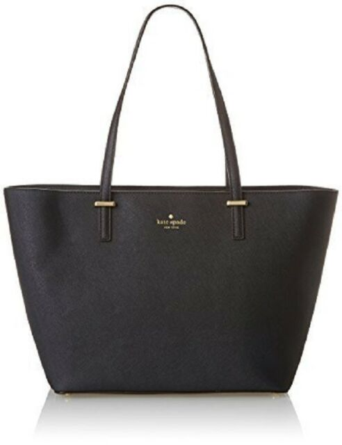 eb127a86ed Kate Spade Pxru4423 Black Harmony Cedar Street Leather Handbag Bag ...