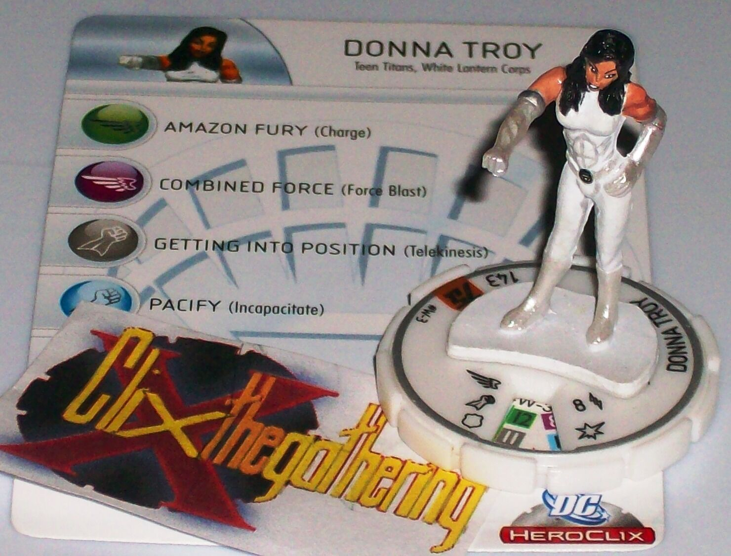 women TROY  W-3 DC 75th Anniversary HeroClix White Lantern Corps Chase Rare