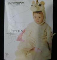 Unicorn Halloween Costume Plush Baby Girls Wings Dress Up Underwraps
