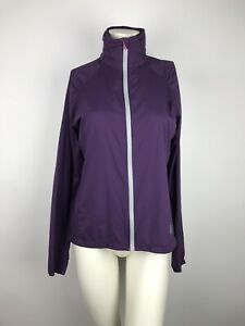 Stio-Purple-Nylon-Zip-Up-Mock-Neck-Jacket-Pockets-Thumb-Hole-Women-039-s-Medium-LN