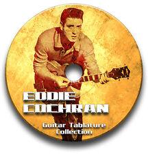 Eddie COCHRAN Rockabilly Rock Chitarra schede tablature SONG BOOK CD software