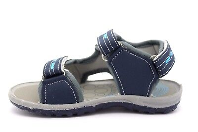 Red Fish Infant Kids UK 9 Navy Blue & Grey Riptape Touch Fasten Sports Sandals