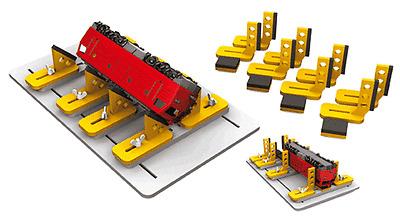 HS Proses PLB-901 Wartungsbank  schwenkbar,  für Modellloks N,TT, H0, 0