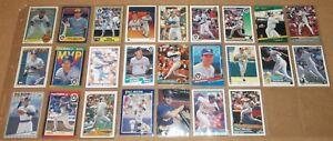MLB Milwaukee Brewers Paul Molitor 1983-1994 baseball card lot of 25 NM cards