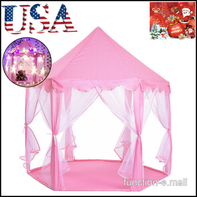 check out b34a2 4c9c6 Pink Tent Princess House Castle Girls Playhouse Kids In/Outdoor Fairy Play  Tent