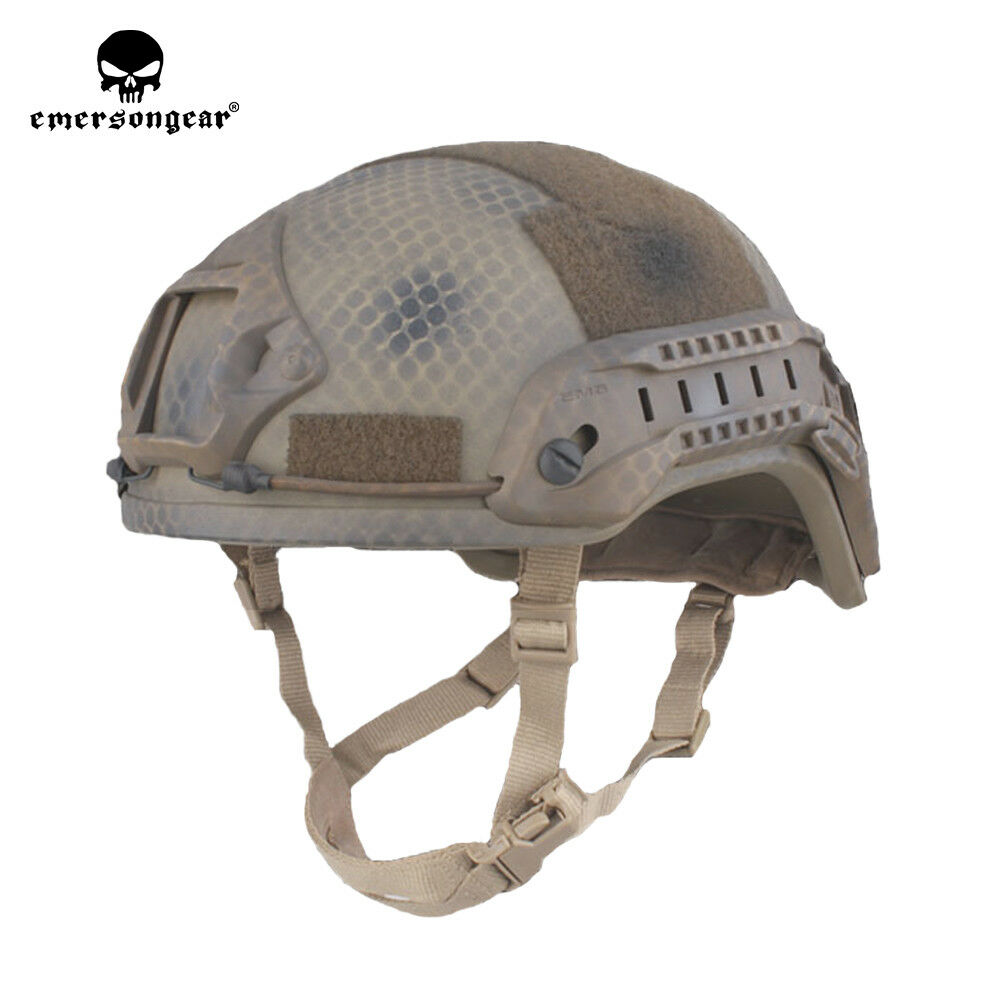 Emerson ACH  MICH 2001 TC 2001 Tactical Helmet Advanced w NVG Shroud & Side Rail  novelty items