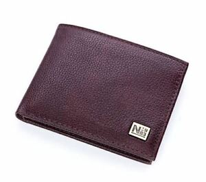NAUTICA MEN/'S PASSCASE BIFOLD WALLET ID HOLDER NEW WITH TIN NAVY BLUE 31NP22X025