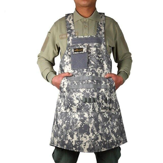 Táctico al aire libre campamento senderismo 900D Nylon Delantal Impermeable Camuflaje Militar