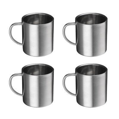Stainless Camping Mug Hot Steel Mugs 400ml Travel Cup Chocolate 4pcsEbay Coffee Tc1K3lFJ