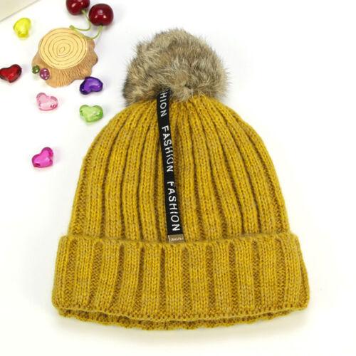 Toddler Kids Girl/&Boy Baby Soft Thick Warm Crochet Knit Hat Beanie Cap Comfy