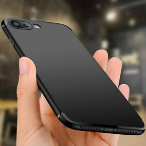 For-iPhone-7-8-Plus-Silicone-Case-3D-Matte-Shockproof-Dustplug-Rubber-Cover-Skin