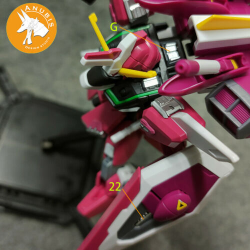 for HG 1//144 Infinite Justice Gundam Anubis Details Add-on Parts GP021 ZGMF-X19A