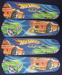 New hot wheels race car cars ceiling fan 42 aloadofball Choice Image