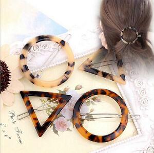 Fashion-Women-Leopard-Geometry-Triangle-Round-Hairpin-Hair-Clip-Hair-Accessories