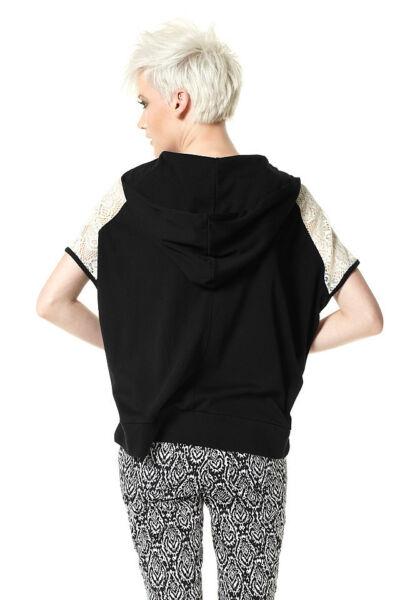 Shirt. Material Girl. Schwarz, mit Kapuze. NEU!!! %SALE%