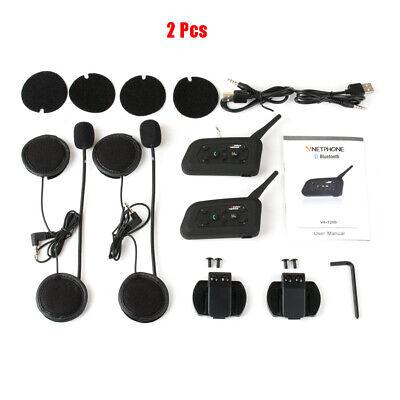 V6-1200M Auriculares Intercomunicador Bluetooth para Motocicletas Moto Interfono