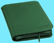 ULTIMATE GUARD GREEN 4 POCKET XENOSKIN ZIPFOLIO Card Storage BINDER Page Album