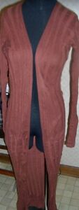 Midi Cardigan Sweater Small Brown Victoria's Secret Moda Misses size Small New