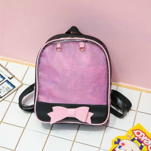 6 Farben clear ITA Bag transparent itabag Pin Display Rucksack Kids Schultaschen