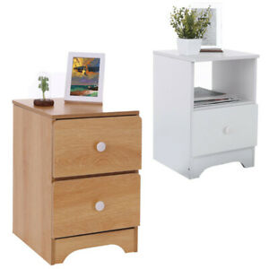 Details About Sofa Bed Side End Table Accent Nightstand Living Room Storage Cabinet W Drawer