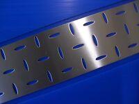 BUCHERT  Edelstahl - Lochblech EVH 8x32-50x50- 400x150x1,5 mm -VA-GESCHLIFFEN