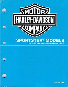 1993 1994 harley sportster xl1200 xl883 parts catalog manual book rh ebay com 1994 Sportster Black 1994 Sportster 883 Models