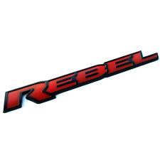 2x OEM 13inch REBEL Dodge Tailgate Emblem Badge 3D Nameplate L Ram 1500 2500