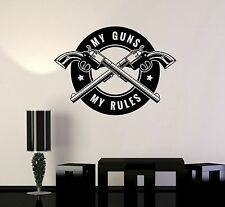 Vinyl Decal Gun Shops Shooting Range Quote Weapons Wall Stickers Mural (ig3528)